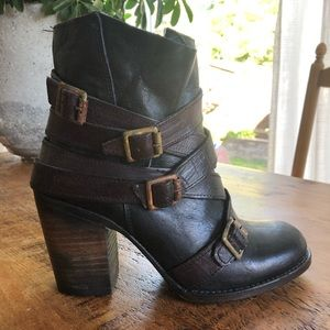 NEW Freebird Multi Hustle Leather Ankle Boots 8